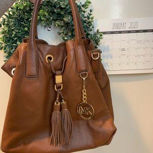 Brown & Gold Leather Michael Kors Handbag